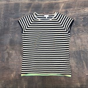 Akris Punto stripe cap sleeve top stretch 4 small